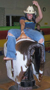 Photo: Riding mechanical bull